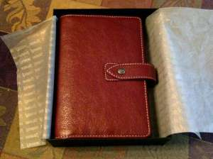 Crimson Filofax Malden Binder