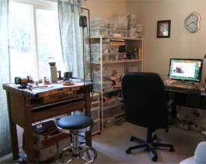 Wendy Van Camp's Writing Space and Studio