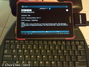 Samsung Galaxy Tab 7.7 and Alphasmart Neo