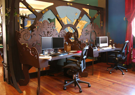 Writing Space Steampunk Office No Wasted Ink