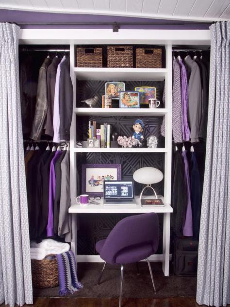 Purple Theme Closet Office