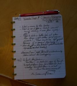 Blaine Arden Notebook and Parker Fountain Pen