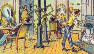 Victorian Postcard - Barber