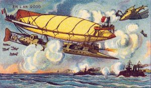 Victorian Postcard - French Air Force