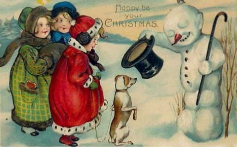 A Victorian Christmas Vintage Postcard