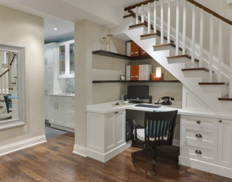 Author's Understairs Writing Nook