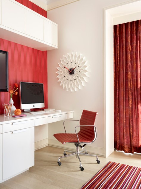 Red, White and Black Home Office