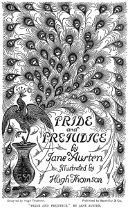 Pride and Prejudice by Jane Austen., 1895 book cover