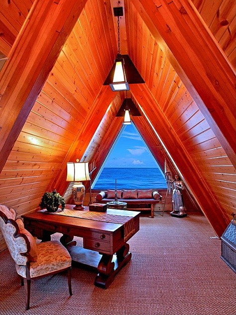 Mountain A-Frame Home Office