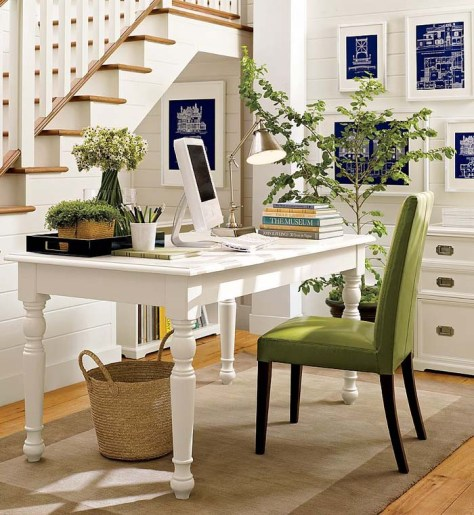 Understairs Botanical Home Office