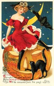 Victorian Postcard - Halloween