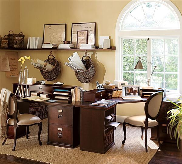 Writing Space: Neutral Browns Home Office