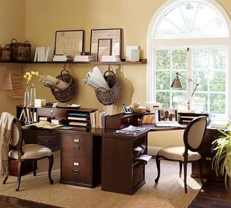 Neutral Browns Home Office