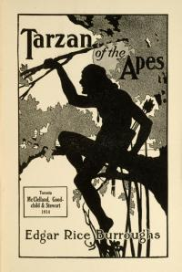 Tarzan of the Apes Book Cover 1912