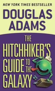 Hitchhikers Guide to the Galaxy Book Cover