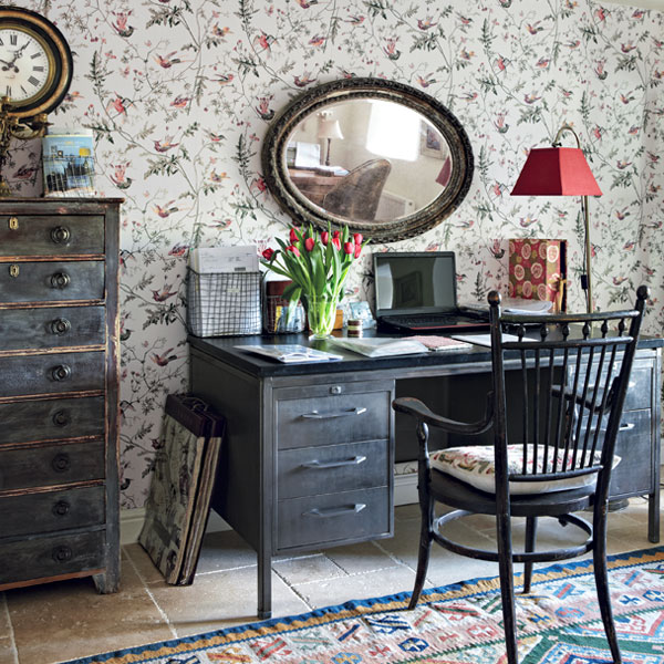 Writing spaces english cottage style no wasted ink - The writers cottage inspiration by design ...