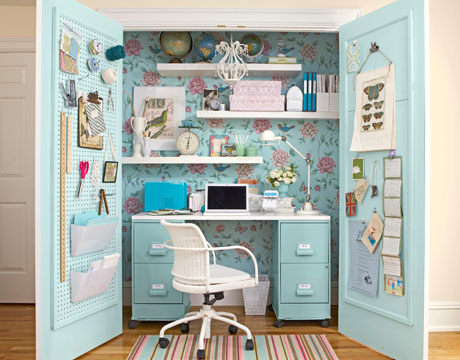 Turquoise Closet Office