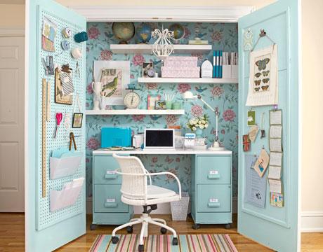 Turquoise Closet Office