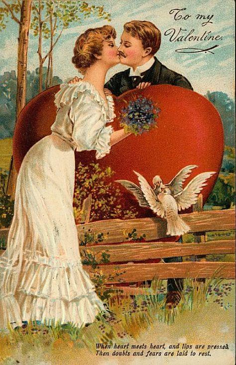 Valentine Victorian Card