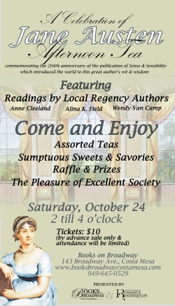 Jane Austen Tea in Orange County - Oct. 24th