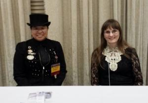 Westercon68 Autographing 2 (2015) Elizabeth Watasin, Shauna Roberts