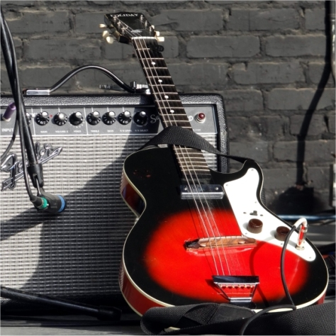 Red Guitar and Amp