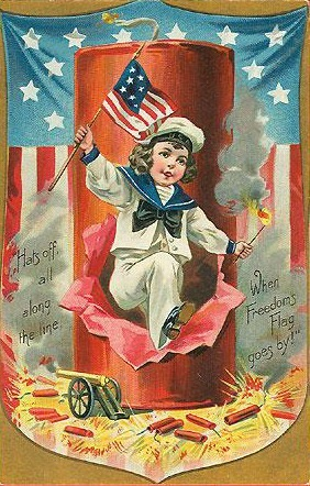 fourth-of-july-sailor-boy-american-flag-firecracker-vintage-postcard1