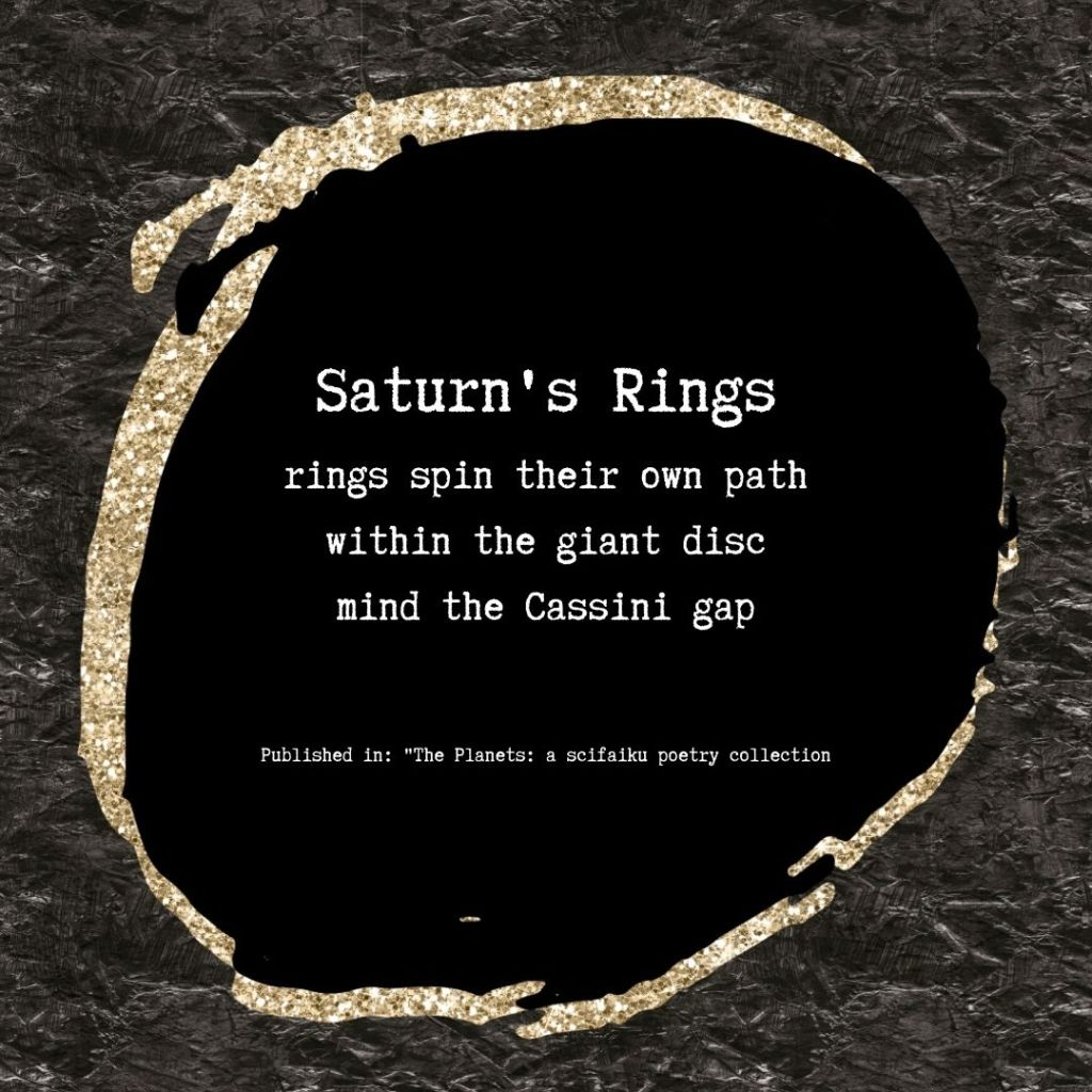 Scifaiku poem by Wendy Van Camp - Saturn's Rings
