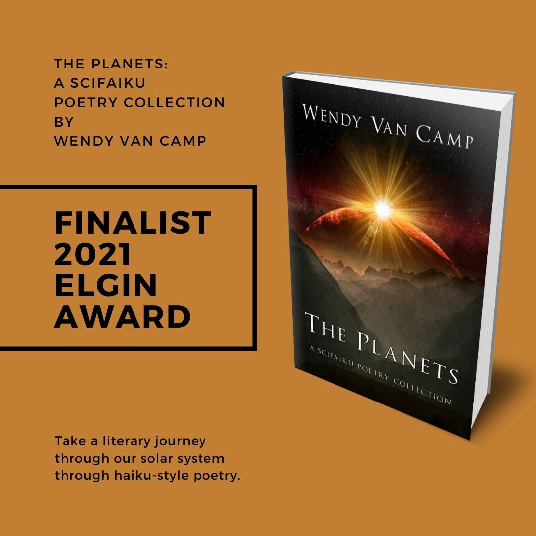 The Planets is a 2021 Finalist for the Elgin Award for Best Speculative Poetry Book of the Year.